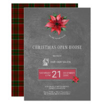 Exclusive Hair Salon Christmas Open House Party Invitation