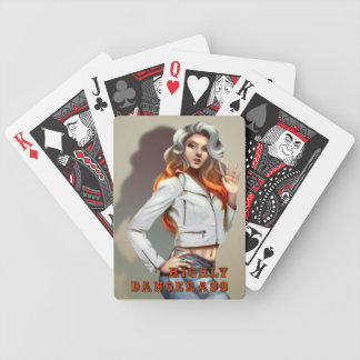 EXCLUSIVE!!! HIGHLY DANGERASS POKER RUN CARDS! BICYCLE PLAYING CARDS
