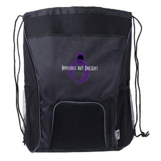 Exclusive IBP Purple Awareness Ribbon Drawstring Backpack