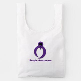 Exclusive IBP Purple Awareness Ribbon Reusable Bag