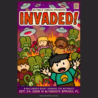 Exclusive Invaded! comic shirt shirt