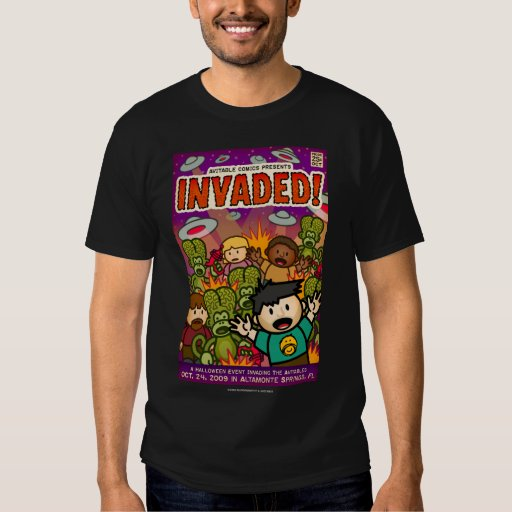 Exclusive Invaded! comic shirt