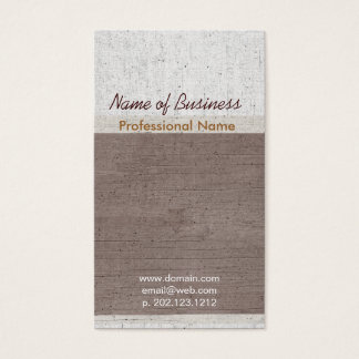 Exclusive Occupational Upscale Aged Business Card