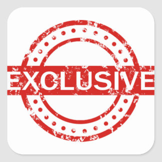 Exclusive Oval Stickers, Matte Square Sticker