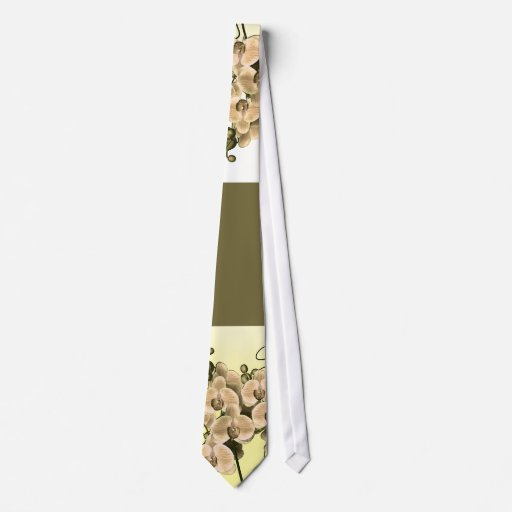 Exclusive, peach orchid floral ties - unisex