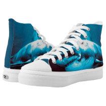 Exclusive Shark Painting Zipz Low Top High-Top Sneakers