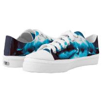 Exclusive Shark Painting Zipz Low Top Shoes