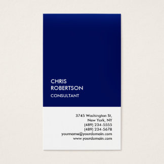 Exclusive Special Dark Blue White Unique Business Card