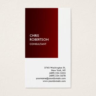 Exclusive Special Dark Red White Private Unique Business Card
