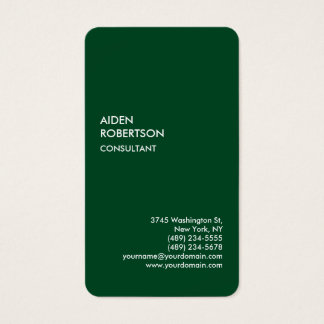 Exclusive Special Forest Green Modern Unique Business Card