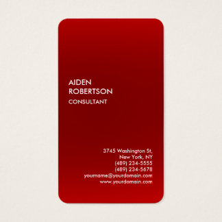 Exclusive Special Red Grey Modern Unique Business Card