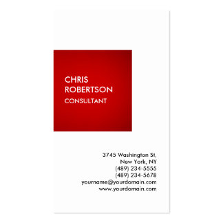 Exclusive Special Red White Private Unique Pack Of Standard Business Cards
