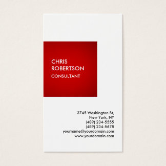 Exclusive Special Red White Private Unique Business Card