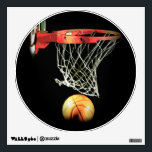 """Exclusive Trendy Unique Basketball Wall Decal<br><div class=""""desc"""">Basketball images &amp; artworks - Popular American &amp; international games - Digitally edited sport photography</div>"""