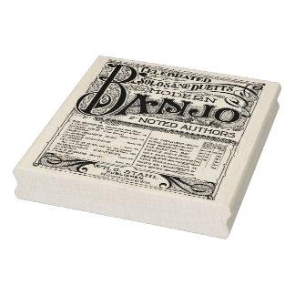 Exclusive Vintage Banjo Sheet Music Art Stamp