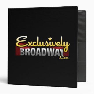 ExclusivelyBroadway.com 3 Ring Binders