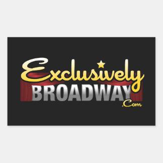 ExclusivelyBroadway.com Pegatina Rectangular
