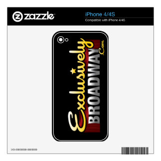 ExclusivelyBroadway.com Skins For The iPhone 4