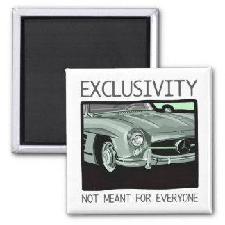 Exclusividad y riqueza - coche viejo de la obra cl imán cuadrado