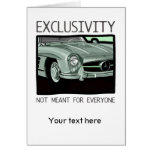 Exclusivity and wealth - old Gullwing classic car Greeting Card
