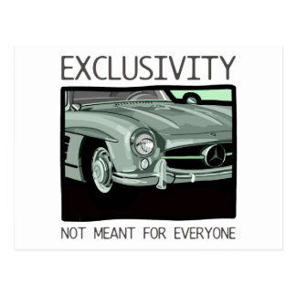 Exclusivity and wealth - old Gullwing classic car Postcard