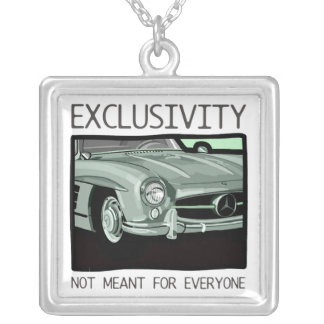Exclusivity and wealth - old Gullwing classic car Square Pendant Necklace