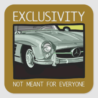 Exclusivity and wealth - old Gullwing classic car Square Sticker