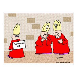 excommunicate me los obispos tarjeta postal