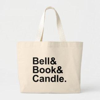 Excomunión del libro y de la vela de Bell por Bolsa Tela Grande