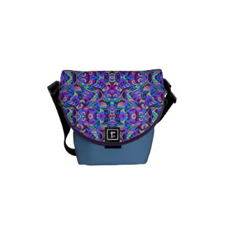 Excrutiatingly Colorful Art Deco Psychedelic Courier Bag