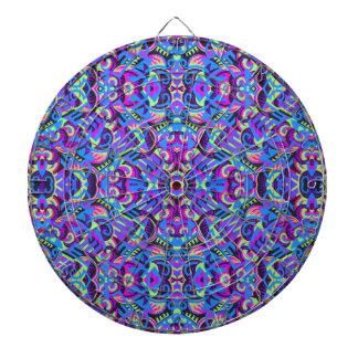 Excrutiatingly Colorful Art Deco Psychedelic Dart Boards