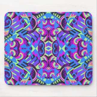 Excrutiatingly Colorful Art Deco Psychedelic Mouse Pad