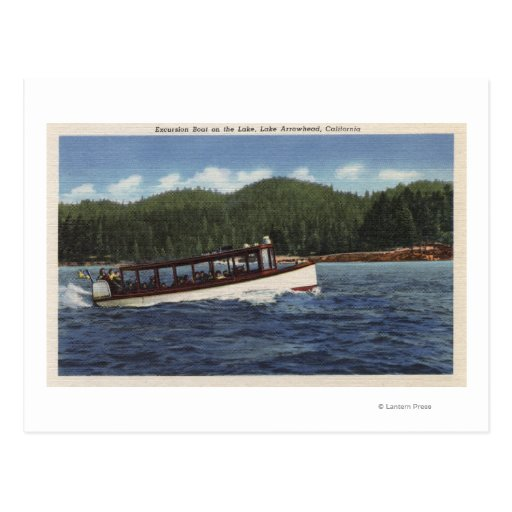 Excursion Boat on the Lake Postcard