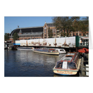 Excursion boats in Amsterdam Card