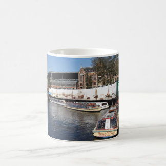 Excursion boats in Amsterdam Coffee Mug