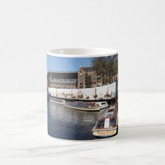 Excursion boats in Amsterdam Mug