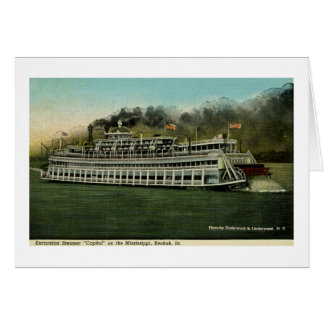 "Excursion Steamer ""Capitol"" on the Mississippi Card"