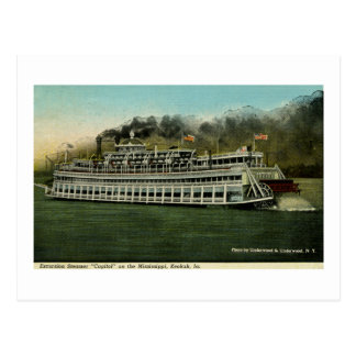 "Excursion Steamer ""Capitol"" on the Mississippi Postcard"
