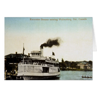 Excursion Steamer, Wallaceburg, Ontario, Canada Card