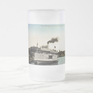 Excursion Steamer, Wallaceburg, Ontario, Canada Frosted Glass Beer Mug