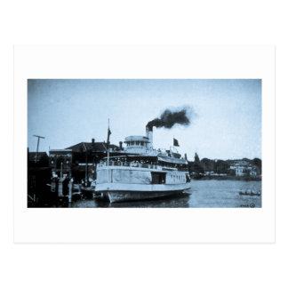 Excursion Steamer, Wallaceburg, Ontario, Canada Postcard