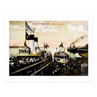 Excursion Steamers, Detroit, Michigan Post Cards