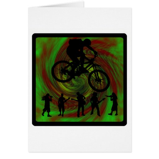 Excursionista siguiente de la bici tarjetas