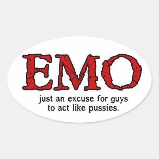 Excusa de Emo Pegatina Ovalada