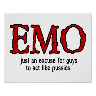 Excusa de Emo Póster