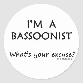 Excusa del Bassoonist Etiqueta Redonda
