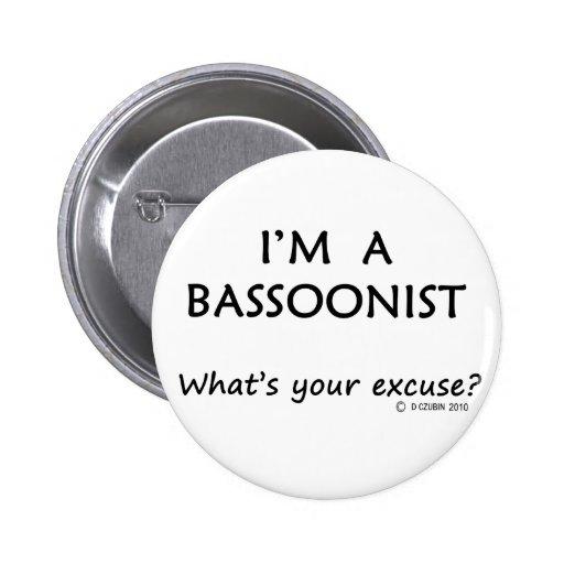 Excusa del Bassoonist Pins