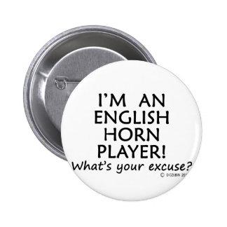 Excusa del jugador de cuerno inglés pins