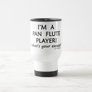 Excusa del jugador de flauta de la cacerola taza de viaje de acero inoxidable