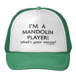 Excusa del jugador de la mandolina gorros bordados
